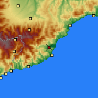 Nearby Forecast Locations - Albenga - Χάρτης