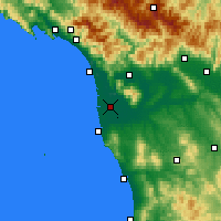 Nearby Forecast Locations - Πίζα - Χάρτης