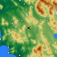 Nearby Forecast Locations - Σιένα - Χάρτης