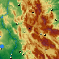 Nearby Forecast Locations - Monte Terminillo - Χάρτης