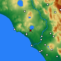 Nearby Forecast Locations - Vigna Di Valle - Χάρτης