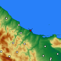 Nearby Forecast Locations - Termoli - Χάρτης