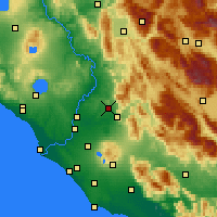 Nearby Forecast Locations - Guidonia Montecelio - Χάρτης
