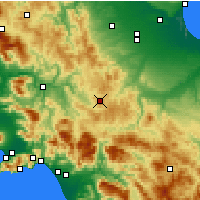 Nearby Forecast Locations - Trevico - Χάρτης