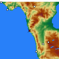 Nearby Forecast Locations - Bonifati - Χάρτης