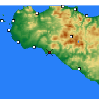 Nearby Forecast Locations - Sciacca - Χάρτης