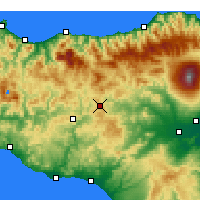 Nearby Forecast Locations - Enna - Χάρτης