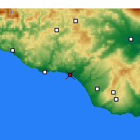 Nearby Forecast Locations - Γέλα - Χάρτης