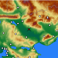 Nearby Forecast Locations - Σέρρες - Χάρτης
