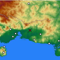 Nearby Forecast Locations - Κομοτηνή - Χάρτης