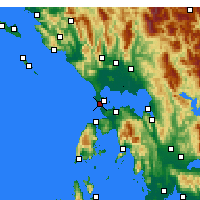 Nearby Forecast Locations - Πρέβεζα - Χάρτης