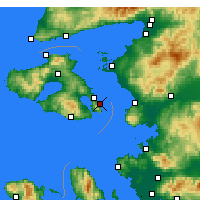 Nearby Forecast Locations - Λέσβος - Χάρτης