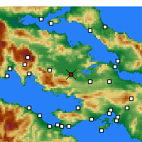 Nearby Forecast Locations - Αλίαρτος - Χάρτης