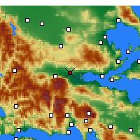 Nearby Forecast Locations - Λαμία - Χάρτης