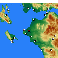 Nearby Forecast Locations - Ανδραβίδα - Χάρτης