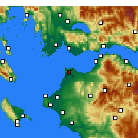 Nearby Forecast Locations - Άραξος Αχαΐας - Χάρτης