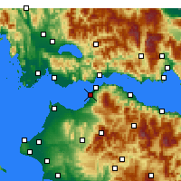 Nearby Forecast Locations - Πάτρα - Χάρτης