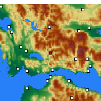 Nearby Forecast Locations - Πλάτανος Αιτωλοακαρνανίας - Χάρτης