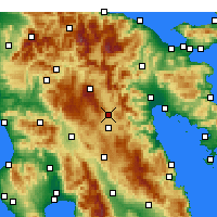 Nearby Forecast Locations - Τρίπολη - Χάρτης