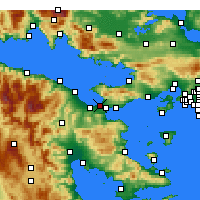 Nearby Forecast Locations - Κόρινθος - Χάρτης