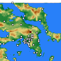 Nearby Forecast Locations - Τατόι - Χάρτης