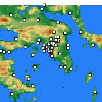 Nearby Forecast Locations - Αθήνα - Χάρτης