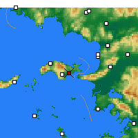 Nearby Forecast Locations - Σάμος - Χάρτης
