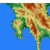 Nearby Forecast Locations - Καλαμάτα - Χάρτης