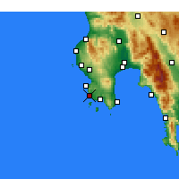 Nearby Forecast Locations - Μεθώνη Μεσσηνίας - Χάρτης