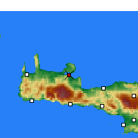 Nearby Forecast Locations - Σούδα Χανίων - Χάρτης