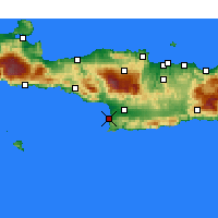 Nearby Forecast Locations - Μάταλα Ηρακλείου - Χάρτης