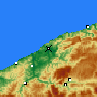 Nearby Forecast Locations - Μπαρτίν - Χάρτης