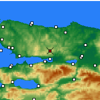 Nearby Forecast Locations - Cengiztopel - Χάρτης