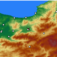 Nearby Forecast Locations - Düzce - Χάρτης