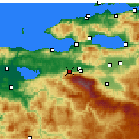 Nearby Forecast Locations - Προύσα - Χάρτης