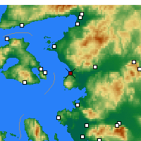 Nearby Forecast Locations - Δεκελί - Χάρτης