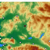 Nearby Forecast Locations - Akhisar - Χάρτης