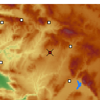 Nearby Forecast Locations - Ουσάκ - Χάρτης