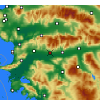 Nearby Forecast Locations - Αϊδίνιο - Χάρτης