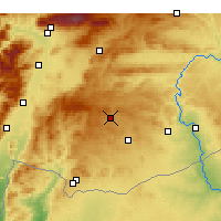 Nearby Forecast Locations - Γκαζιαντέπ - Χάρτης