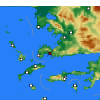 Nearby Forecast Locations - Αλικαρνασσός - Χάρτης