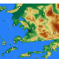 Nearby Forecast Locations - Milas- Bodrum Airport - Χάρτης