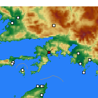 Nearby Forecast Locations - Μαρμαρίς - Χάρτης