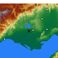 Nearby Forecast Locations - Άδανα - Χάρτης