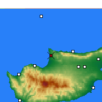 Nearby Forecast Locations - Akdeniz - Χάρτης