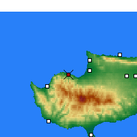 Nearby Forecast Locations - Ξερόβουνος - Χάρτης