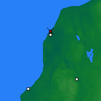 Nearby Forecast Locations - Βέντσπιλς - Χάρτης