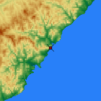 Nearby Forecast Locations - Terney - Χάρτης