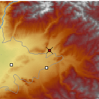 Nearby Forecast Locations - Jalal-Abad - Χάρτης