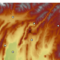 Nearby Forecast Locations - Sanglok - Χάρτης